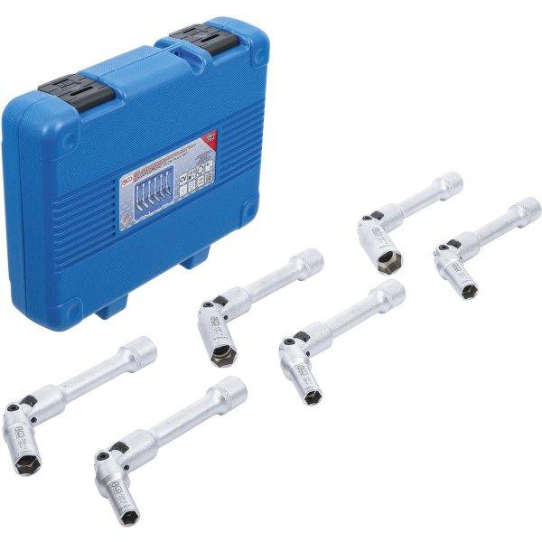 Universal Glühkerzen-Gelenkschlüssel-Satz, Sechskant Antrieb Innenvierkant 10 mm (3/8) SW 8 - 16 mm 6-tlg. - BGS